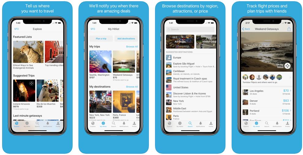 Hitlist - flight booking apps