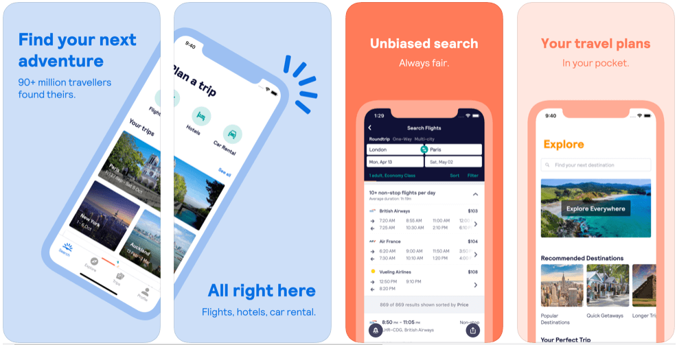 Skyscanner - flight booking apps