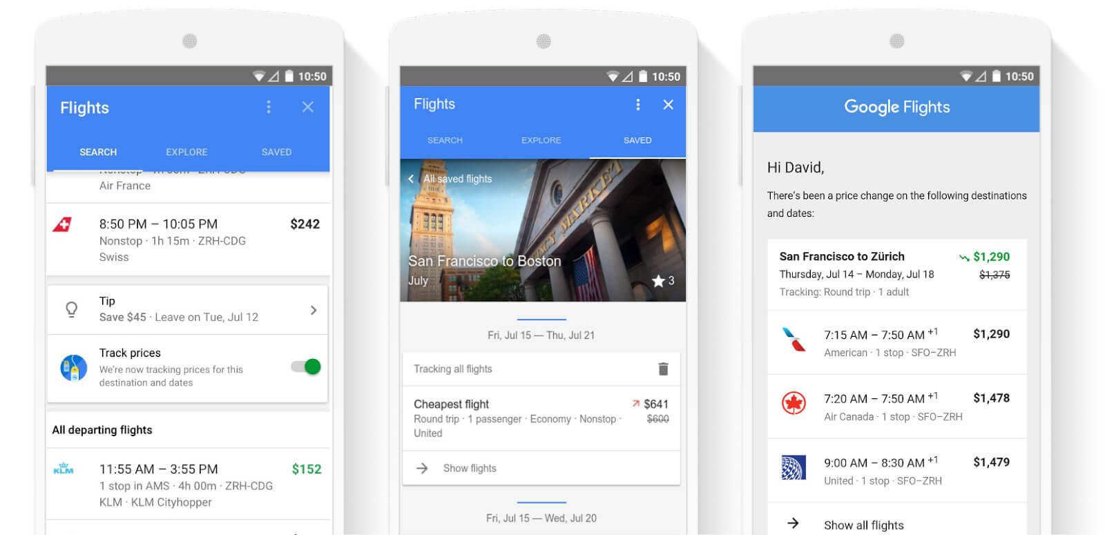 google-flights - flight booking apps