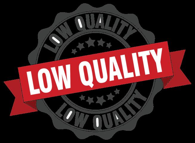 low quality - app marketing mistakes