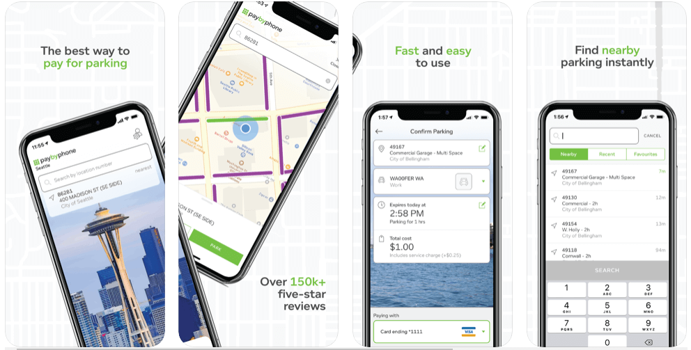 PayByPhone - parking apps uk