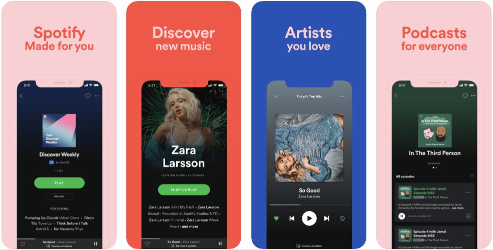 spotify features - create an app like spotify