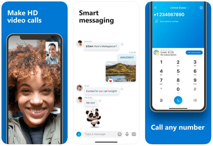 skype app features