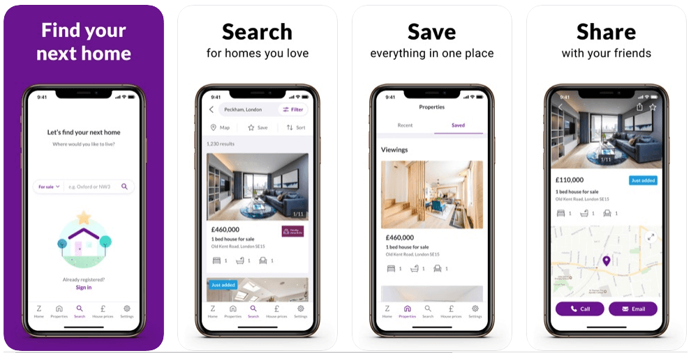 zoopla app features